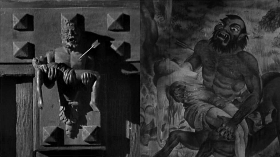 La flèche et le centaure dans Les Chasses du Comte Zaroff