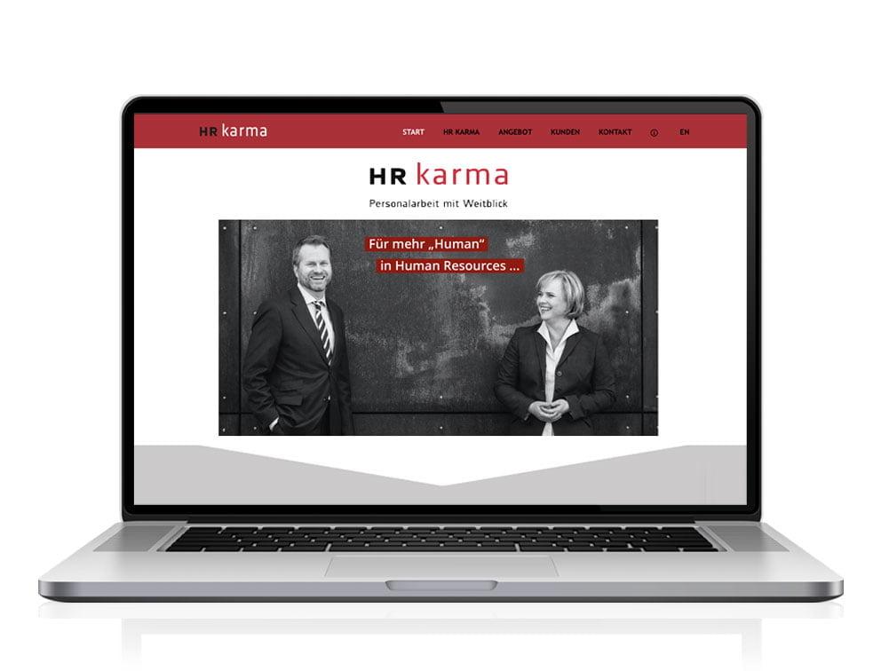 Responsive Website für HR Karma GmbH Köln