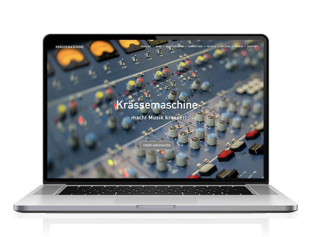 Webdesign designplus Köln Referenz - Responsive Website für das 12-Kanal Mischpult