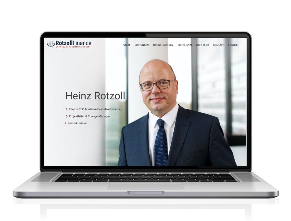 Webdesign designplus Köln Referenz - Responsive Website für Rotzoll-Finance Beratung
