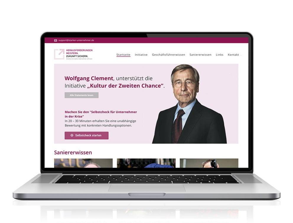 Webdesign designplus Köln Referenz - Responsive Website für das Portal Starke-Unternehmer vom DIAI