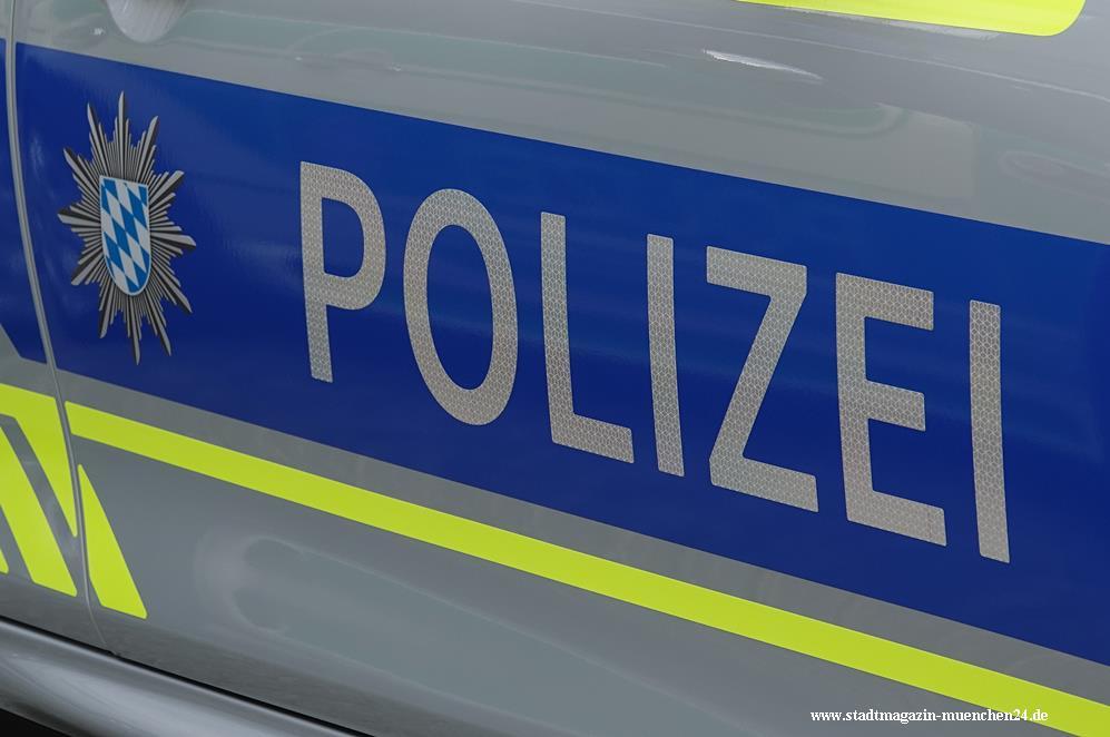Polizei Streifenwagen blau