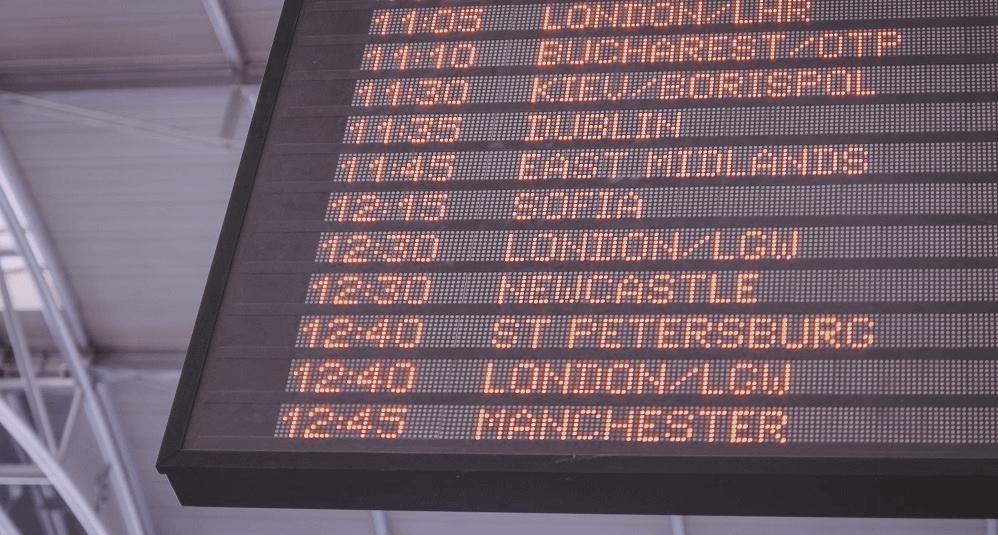 Flüge verspätet