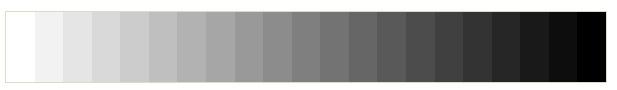 شدت و مقادیر مختلف خاکستری در سانسیتوی