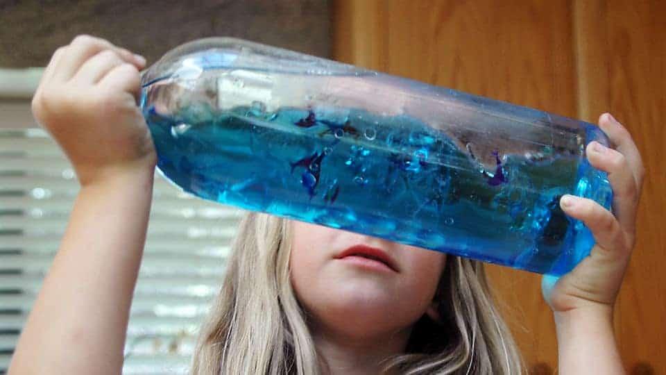 homeschool science, Homeschool Science Project-OCEAN IN A BOTTLE, Family Homeschooler
