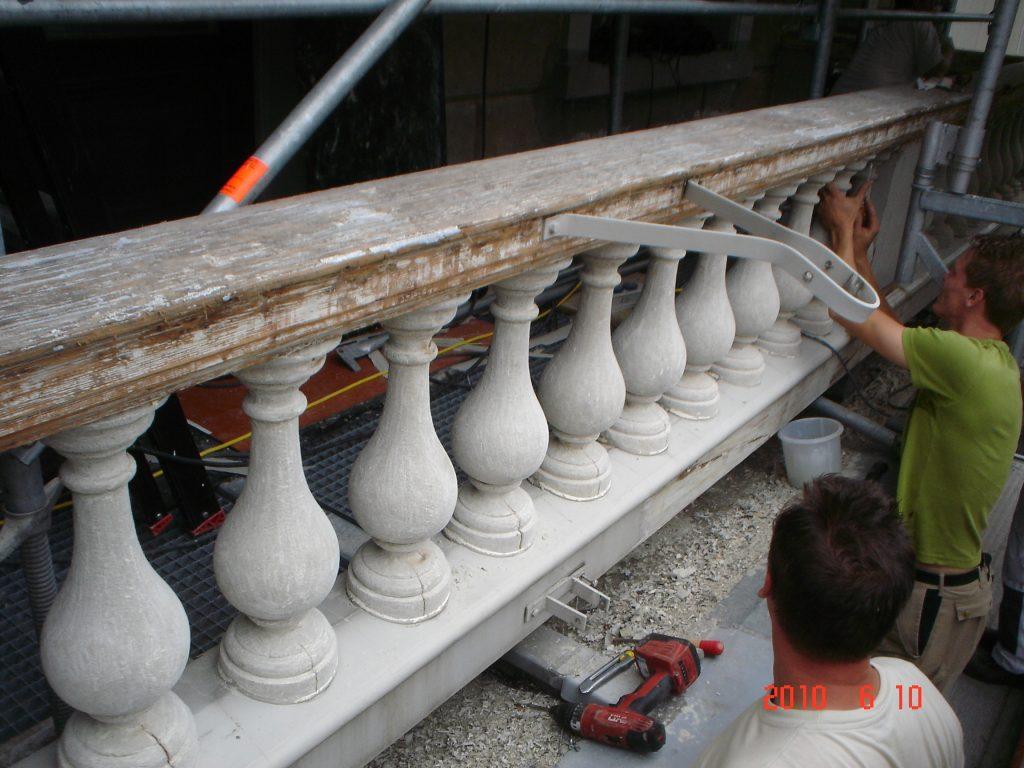 hoogvliet Restauratie balustrade rechtbank dordrecht