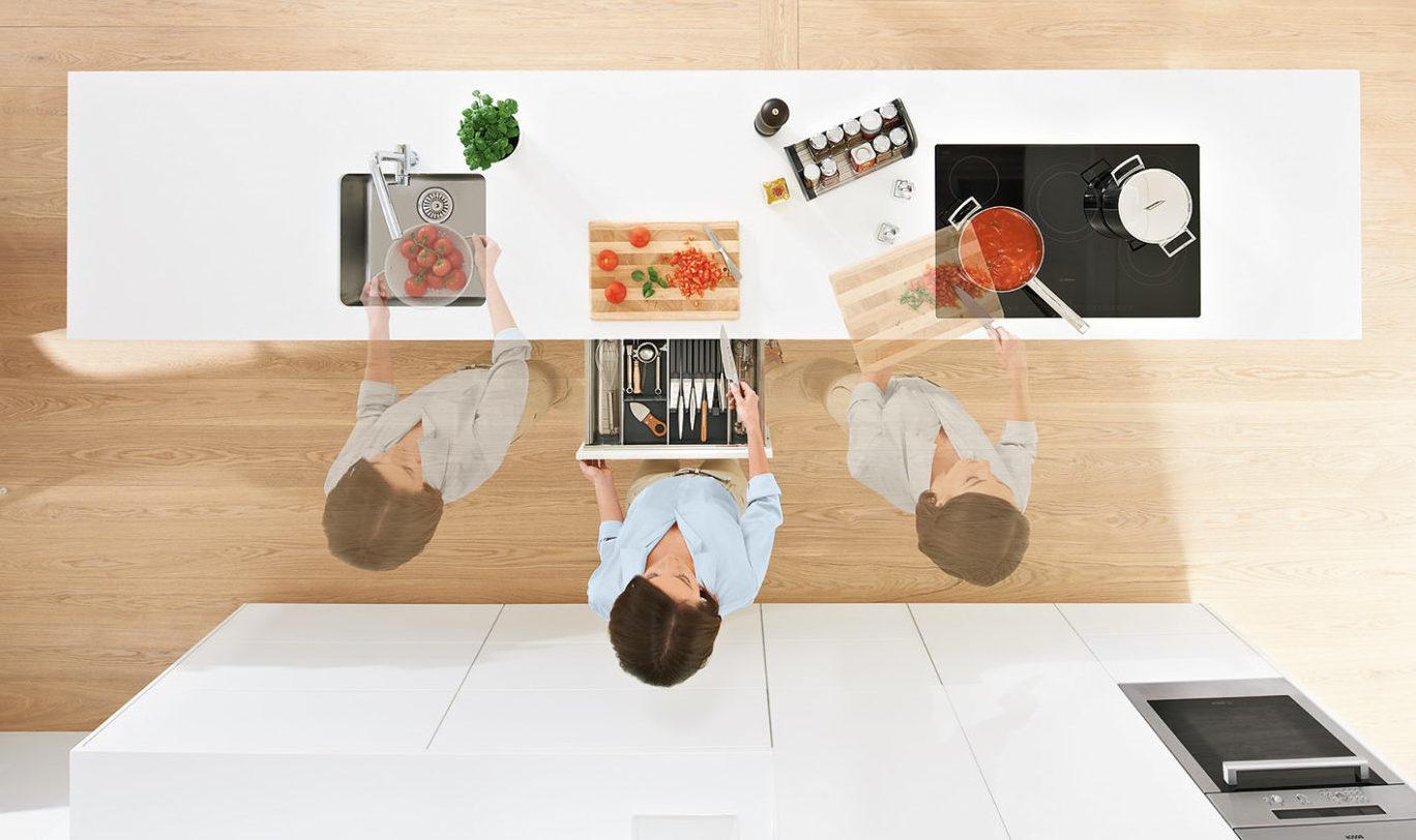 Спроектувати кухню за принципами DYNAMIC SPACE, щоб уникнути зайвих переміщень