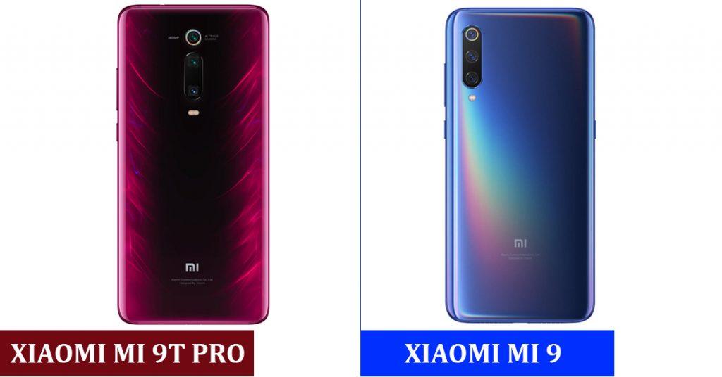 Backs of Xiaomi Mi 9T PRO vs Xiaomi Mi 9