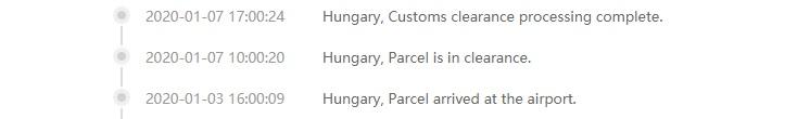 Customs clearance in EU Warehouse Gearbest