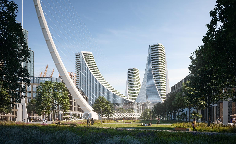 Kompleks Peninsula Place w Londynie projektu Santiago Calatravy