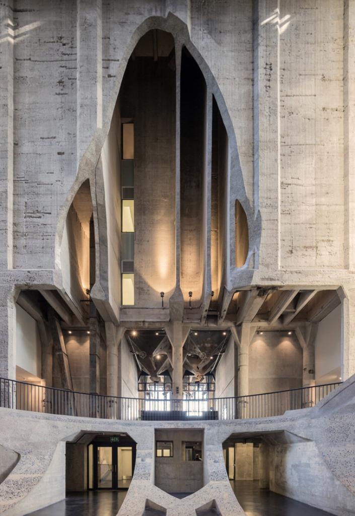 Zeitz Museum wydrążone w betonie