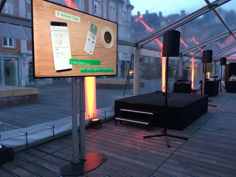 Inauguration de la nouvelle agence Flagship à Namur pour BNP Paribas Fortis. Inauguration organisée par So Event