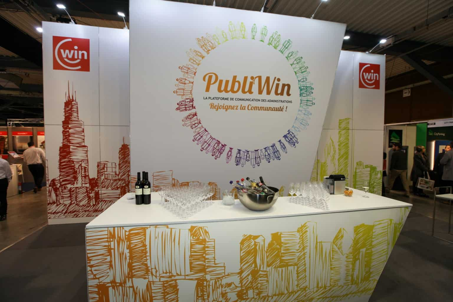 Stand Win mis en place par So Event à l'occasion du Salon des Mandataires
