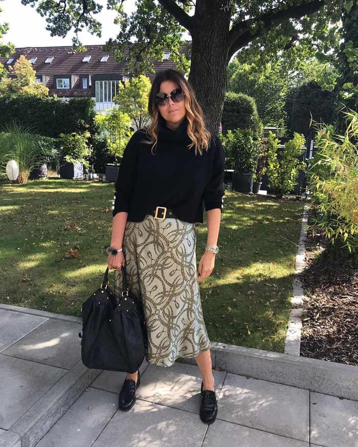 Midi skirts for women over 40 | 40plusstyle.com