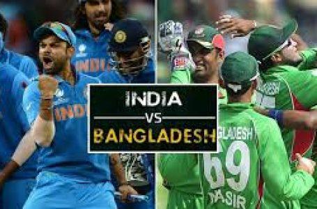 भारत-बांग्लादेश के बीच मुक़ाबला शुरू,भारत ने की पहले बल्लेबाजी,
