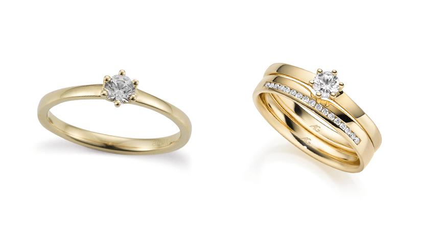 Solitair-Ring als Verlobungsring