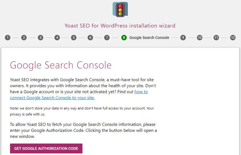 ربط موقع الويب الخاص بك بـ Google Search Console