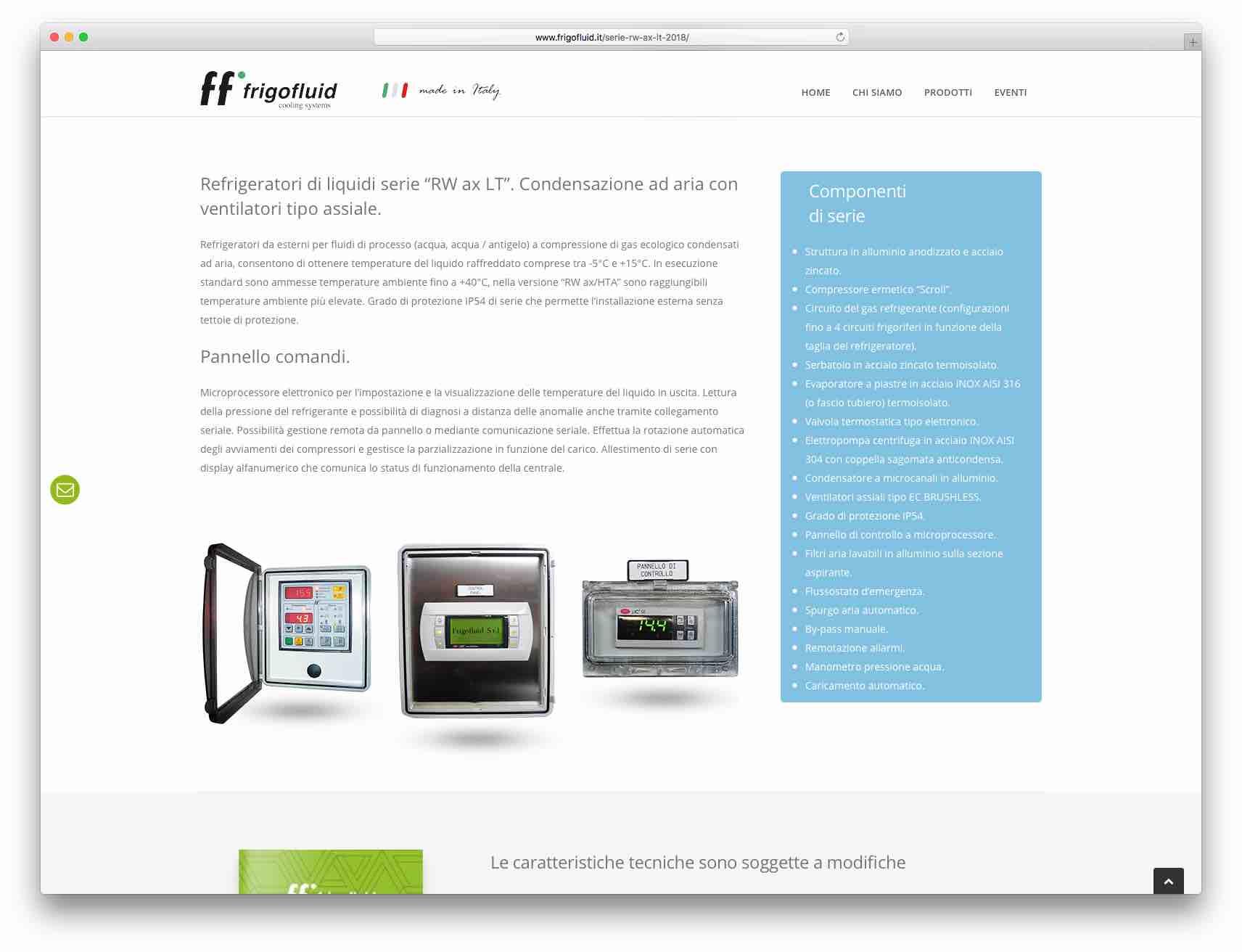 creazione siti web Brescia - Sito Web Frigofluid