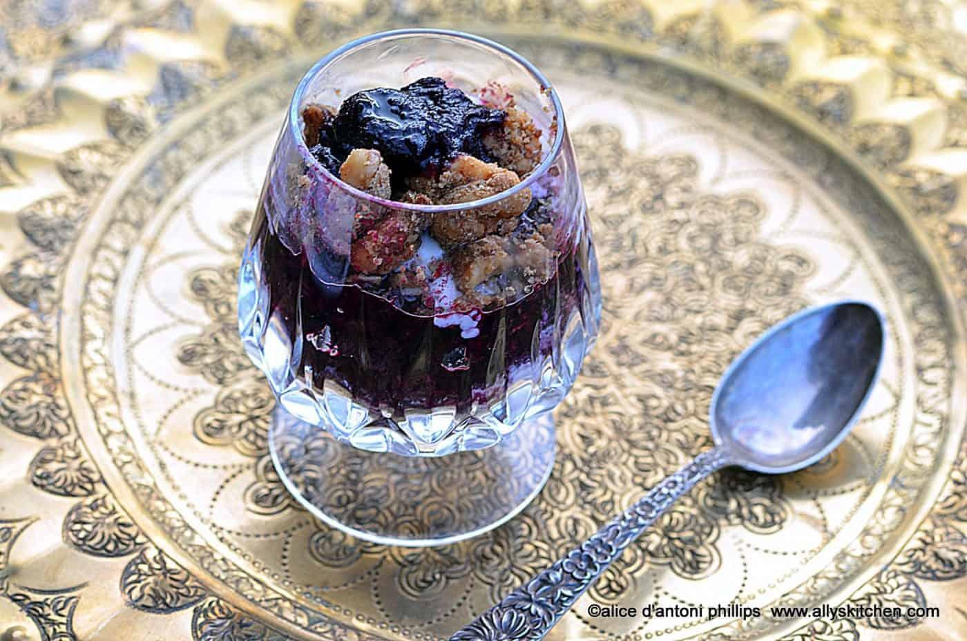 Blueberry Rhubarb Crumbles