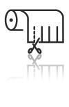 Rollenschnitt Icon