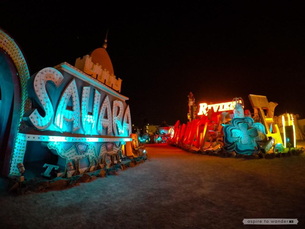 The Neon Boneyard aka the Neon Museum in Las Vegas