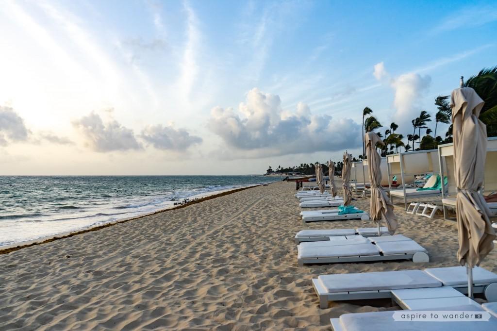 Early morning on Bavaro Beach at the Iberostar Dominicana Hotel