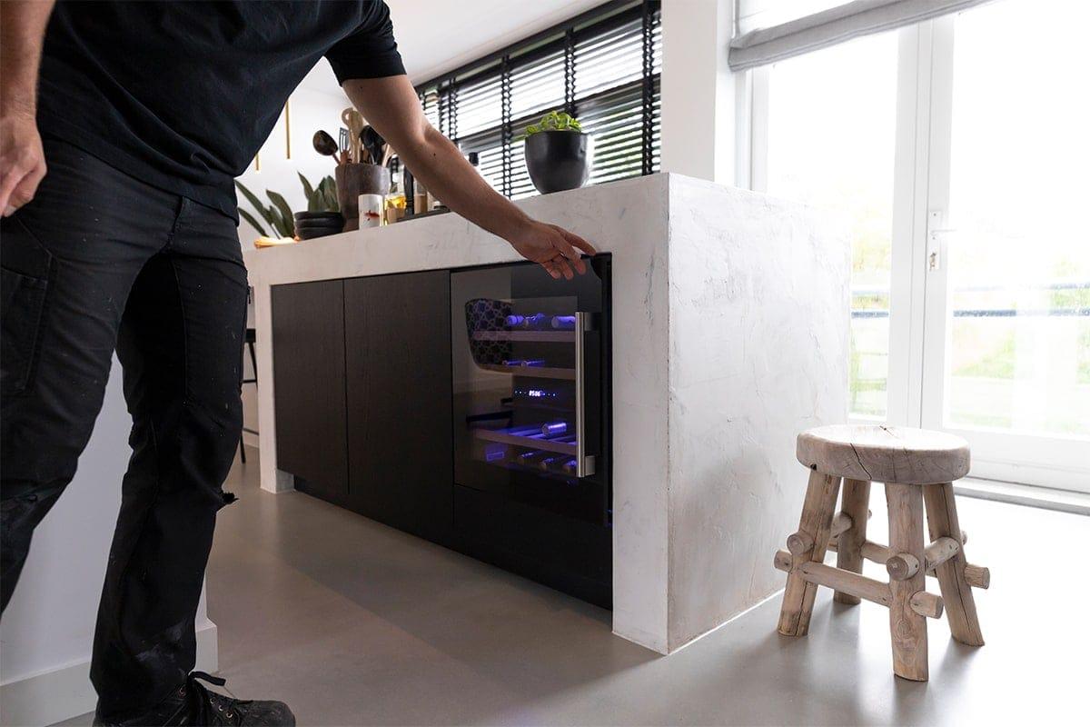 Interieurbouwer Gouda Die Een Moderne Zwart Witte Keukeneiland Hebben Gemaakt