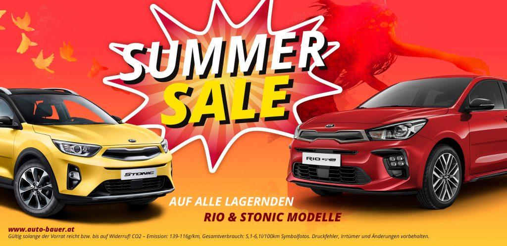 Autohaus Bauer KIA Summer Sale Rio und Stonic Modelle
