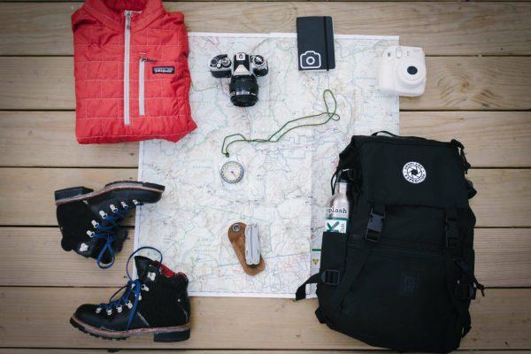 backpacker udstyr