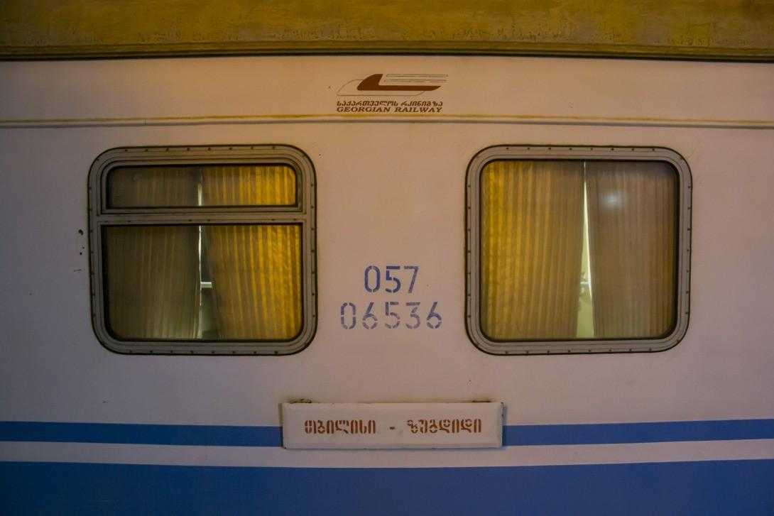 Nocny pociąg z Tbilisi do Zugdidi