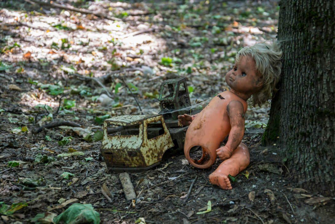 Zabawki w przedszkolu w Czarnobylu