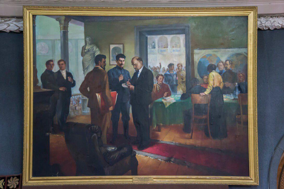 Jeden z obrazów w Muzeum Stalina w Gori