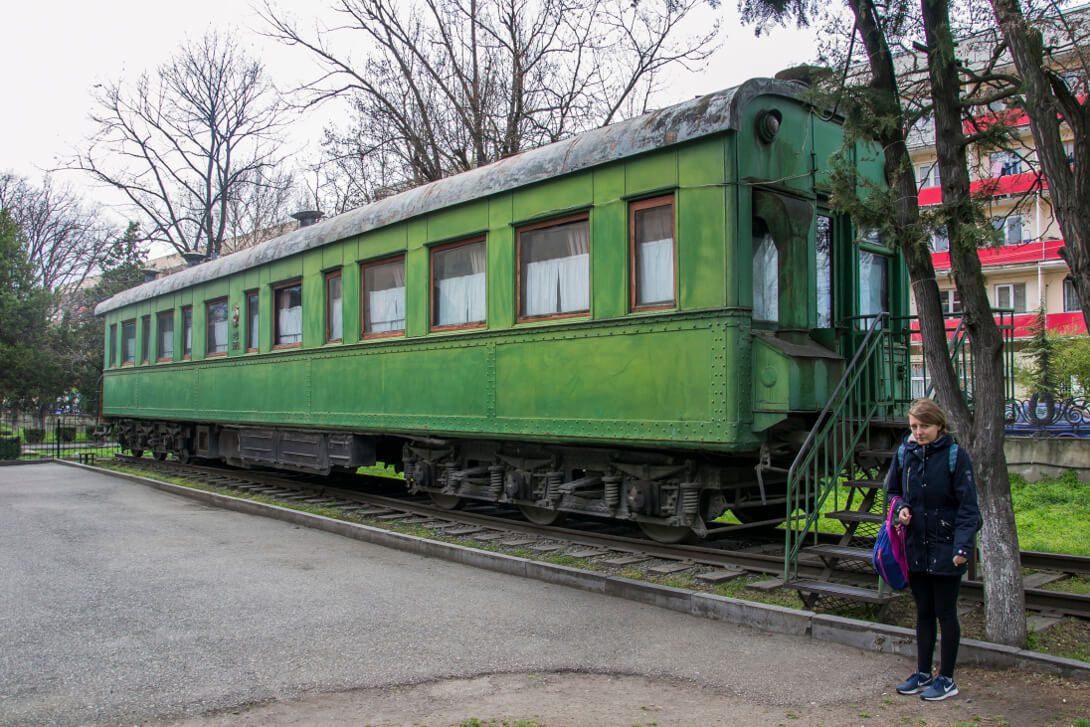 Wagon salonka Stalina w Muzeum Stalina