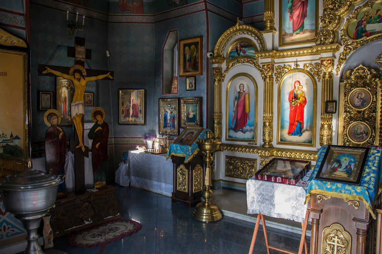 Wnętrze cerkwi św. Mikołaja na Wodzie