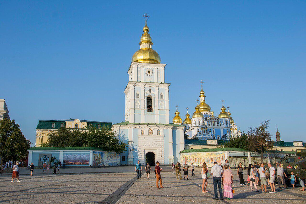 Zwiedzanie Kijowa - Monaster św. Michała Archanioła o Złotych Kopułach