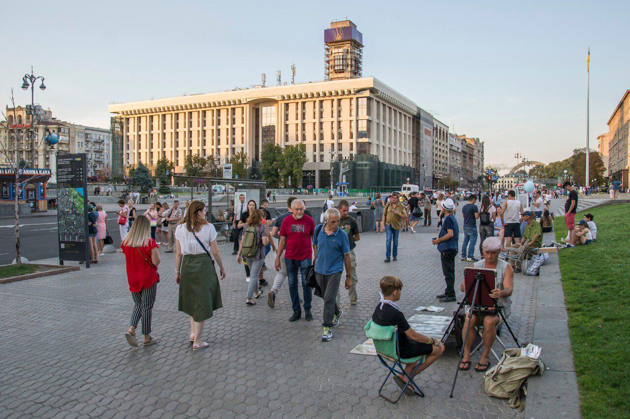Zwiedzanie Kijowa - Majdan Niezależności w Kijowie