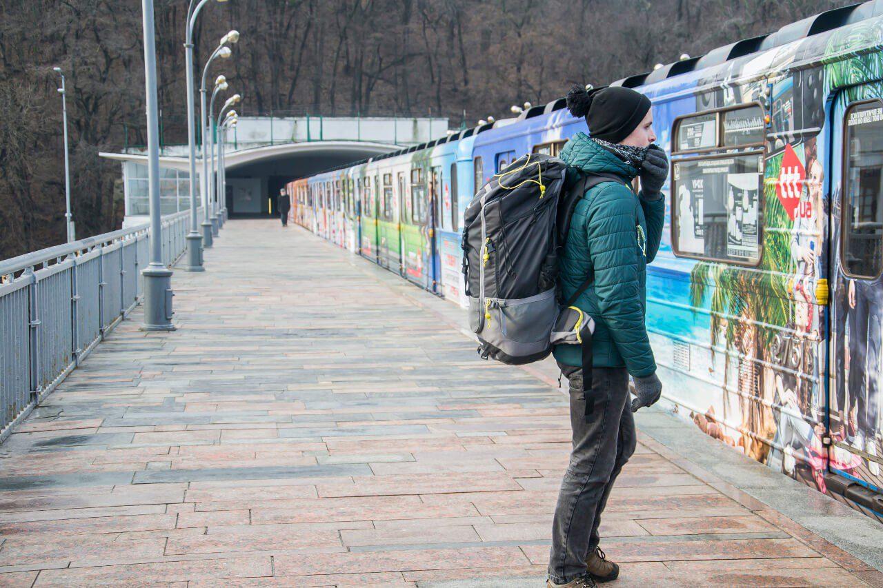 Bartek na stacji Dnipro