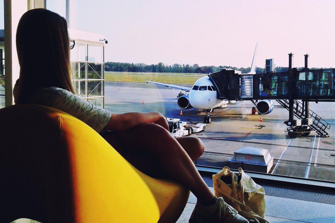 Patrycja Dyrda na lotnisku we Wrocławiu