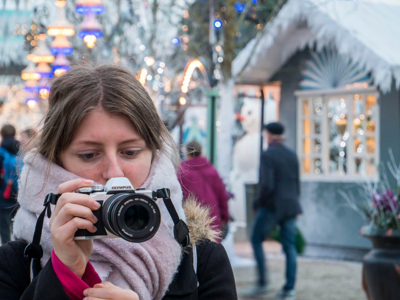 Robienie zdjęć w ogrodzie Tivoli