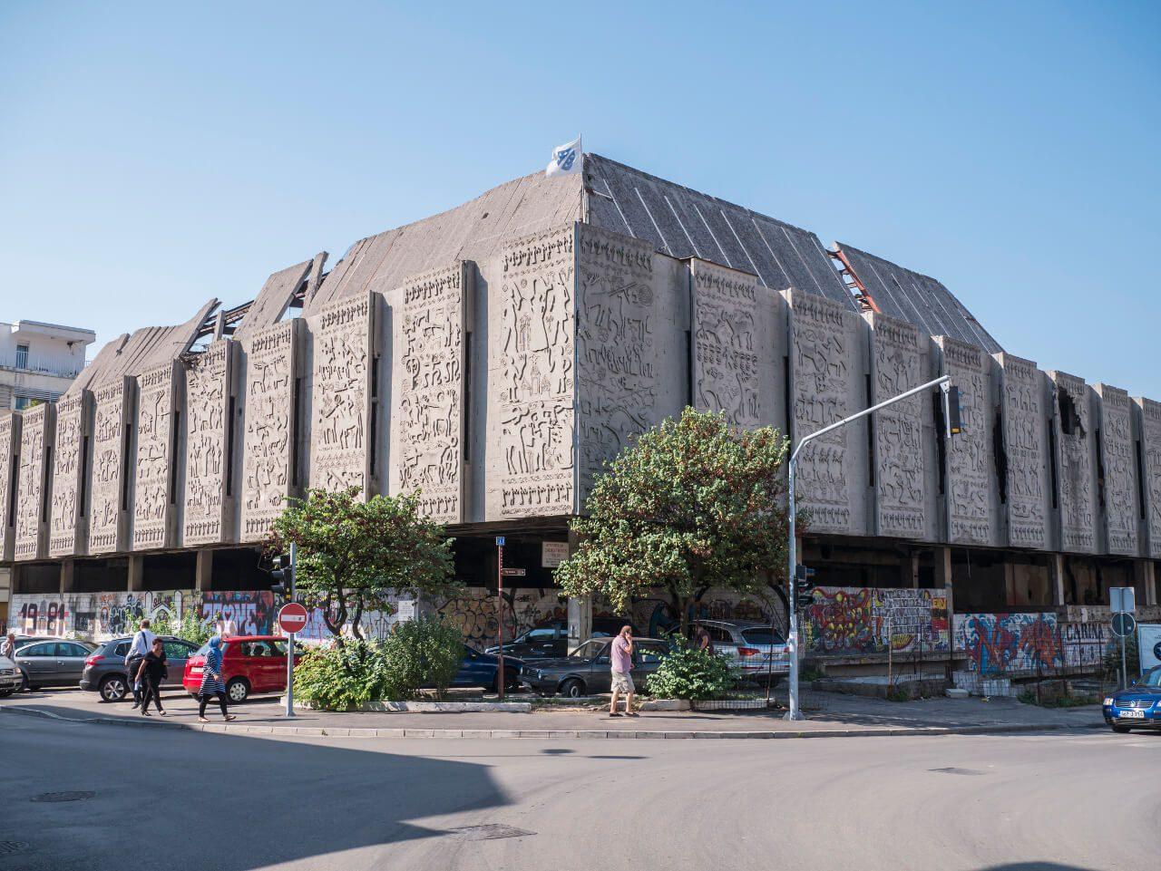 Zamknięte centrum handlowe Razvitak w Mostarze