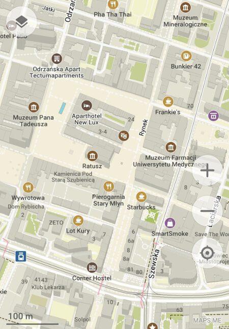 Aplikacje dla podróżników - screen z MAPS.ME #3