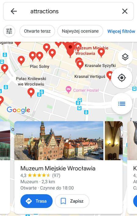 Screen z Google Maps #2