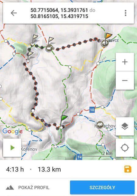 Screen z Mapa Turystyczna #2