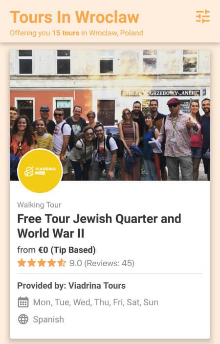Aplikacje dla podróżników - screen z Freetour #1