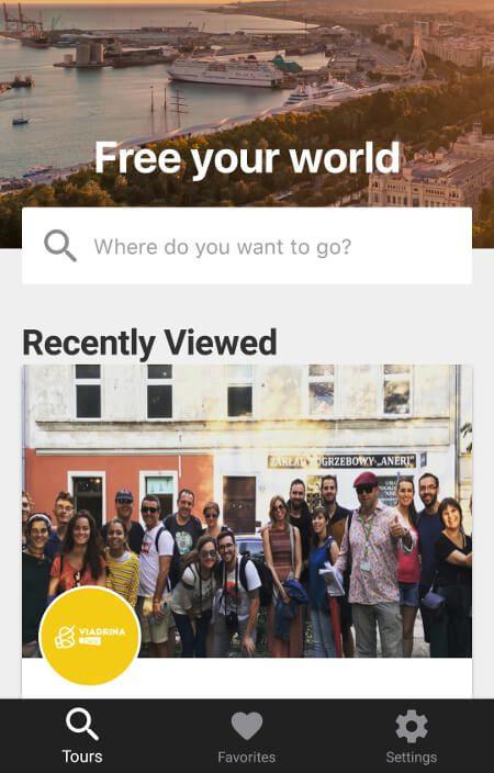 Aplikacje dla podróżników - screen z Freetour #3