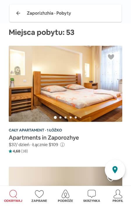 Aplikacje dla podróżników - screen z Airbnb #3