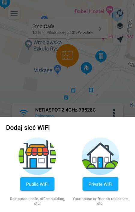 Aplikacje dla podróżników - screen z Wifi Map #3