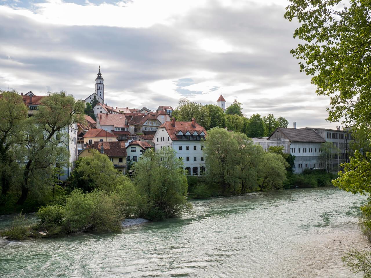 Co warto zobaczyć w Słowenii - Widok na stare miasto w Kranj