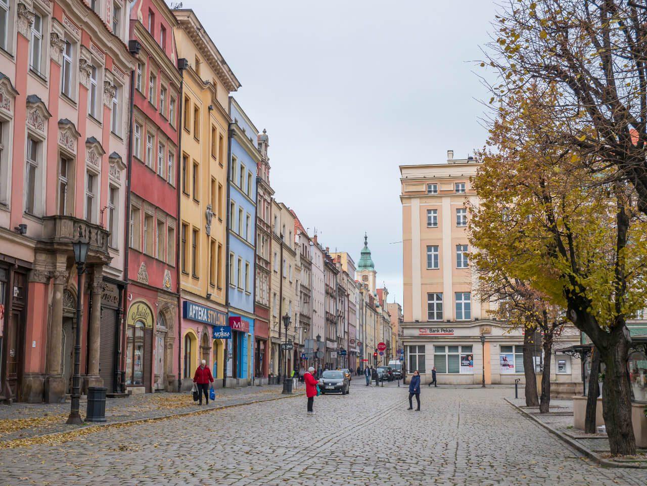 Kamienice na rynku w Świdnicy