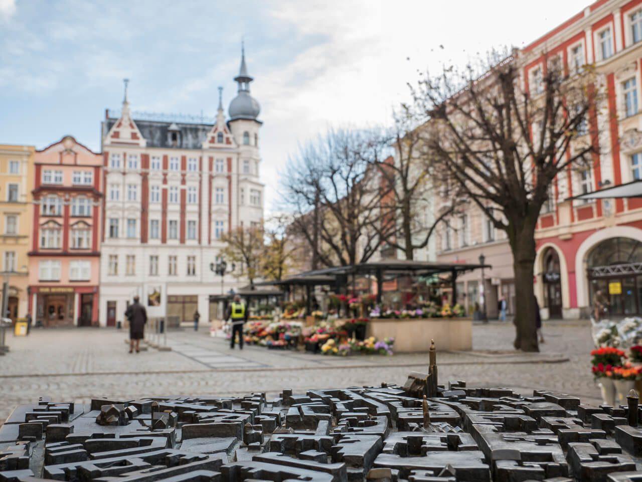 Makieta Świdnicy na rynku w Świdnicy
